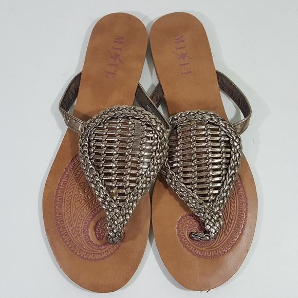 3ca0ccfc3 Mixit Women s Flat Leather Braided Thong Sandals S. Mixit.  M 5cae12a27a8173f3fd29cd0b. M 5cae12a2aa7ed3baf37c8116.  M 5cae12a1689ebc99df8b66b3